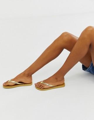 Ipanema glam flip flops-Gold