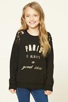 Forever 21 FOREVER 21+ Girls Paris Sweater (Kids)
