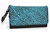 Zebra Print Phone Wristlet Wallet Case With Card Holder for Lava Flair P1