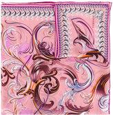 Versace Swirl Baroque print scarf