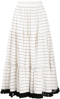 Gianluca Capannolo Striped Flared Midi Skirt