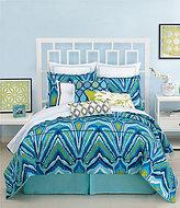 Trina Turk Blue Peacock Comforter Mini Set