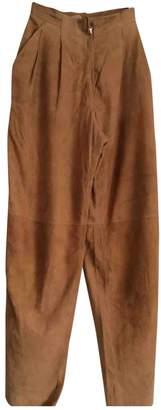 Krizia Camel Suede Trousers