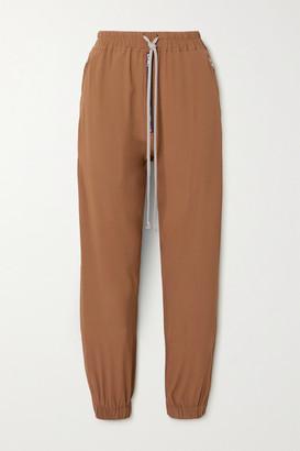 Rick Owens Crepe Track Pants - Camel