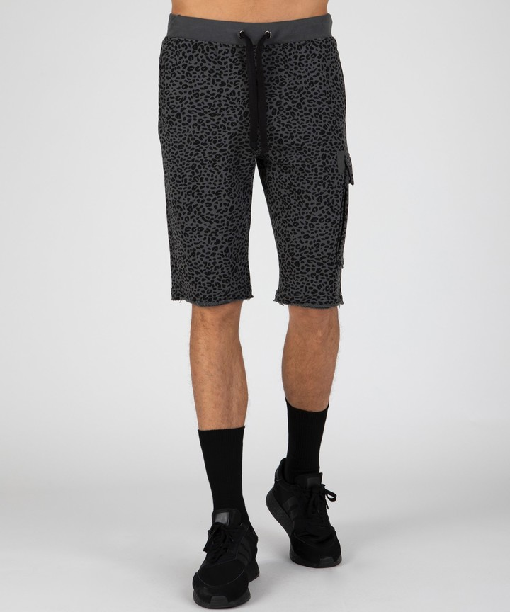 Threads 4 Thought Mens Burn Out French Terry Shorts Gray//Black L