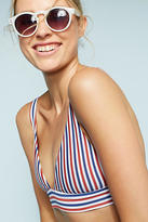 Boys + Arrows Striped Bikini Bikini Top
