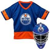 Franklin Sports Youth Franklin Edmonton Oilers Goalie Face Mask & Jersey Set