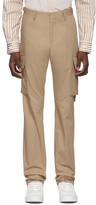 Burberry Tan Classic Web Trousers