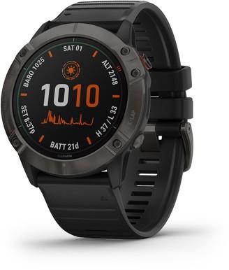 Garmin fenix 6X Pro Solar Titanium Carbon Gray DLC GPS Smartwatch