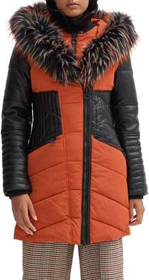 Noize Gigi-P Faux Fur-Trim Hooded Parka