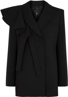 Ellery Schoolyard Black Ruffle-trimmed Blazer