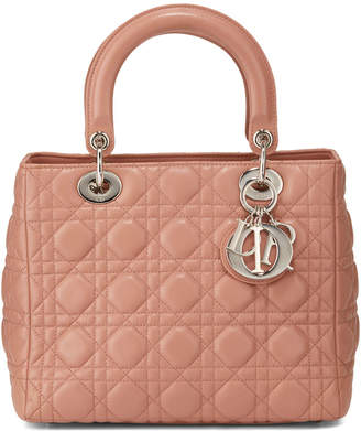 Christian Dior Lady Quilted Leather Tote Bag