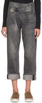 R 13 Black Cross-Over Jeans