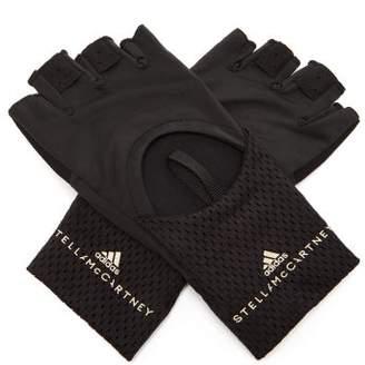 adidas by Stella McCartney Mesh-panel Technical-jersey Training Gloves - Womens - Black