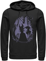 Disney Men's Sleeping Beauty Maleficent Dragon Silhouette Hoodie