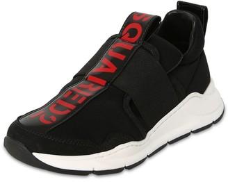 DSQUARED2 Logo Slip-on Leather & Neproene Sneakers