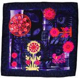 Christian Lacroix Silk Floral Print Scarf