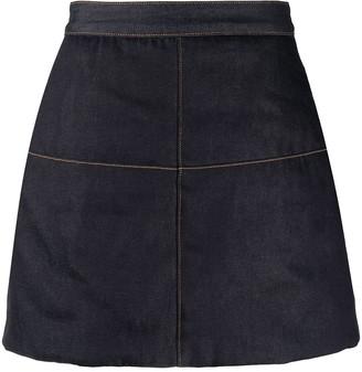 Ganni A-line denim skirt