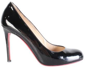 Christian Louboutin Black Patent Leather Pumps Size 38.5