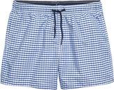 H&M Swim Shorts - Blue/checked - Men