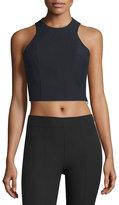 Alexander Wang Stretch Suiting Sleeveless Crop Top, Black
