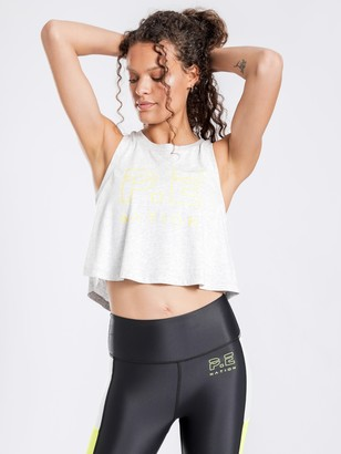 P.E Nation Ultimate Tank in Light Grey Marle