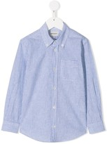 Woolrich Kids striped button-down shirt