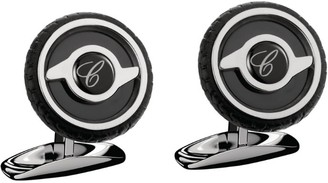 Chopard Stainless Steel And Rubber Mille Miglia Cufflinks