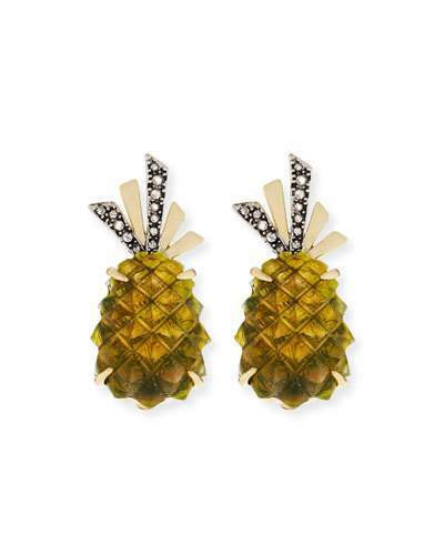 Alexis Bittar Pineapple Lucite® Clip-On Earrings