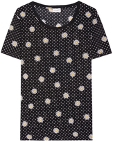 Saint Laurent Daisy Printed Top