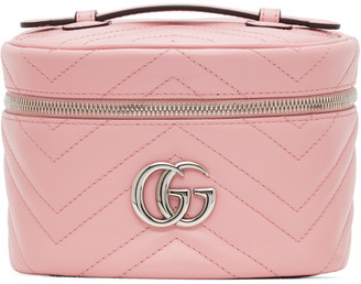 Gucci Pink GG Marmont 2.0 Zip Around Cosmetic Bag