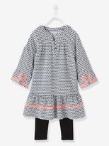 Vertbaudet Girls Dress + Leggings