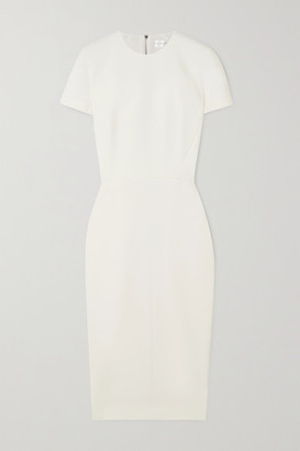 Victoria Beckham Crepe Midi Dress - Cream