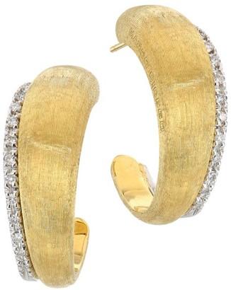 Marco Bicego Lucia 18K Yellow Gold & Diamond Medium Hoop Earrings