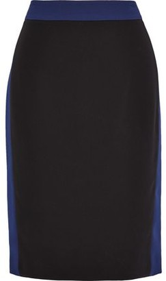 Diane von Furstenberg Esteem Striped Stretch-crepe Pencil Skirt