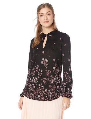 Lucky Brand Women's Allover Floral TOP
