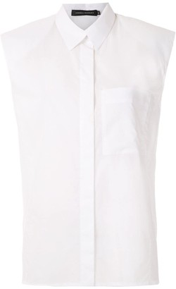 Andrea Marques structured shoulders sleeveless shirt
