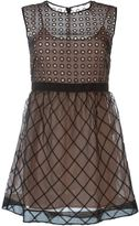 RED Valentino embroidered flared short dress