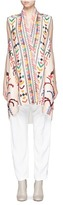Chloé Ethnic embrodiered silk blend linen tunic
