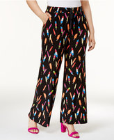 INC International Concepts Plus Size Popsicle Print Soft Pants, Created for Macy's