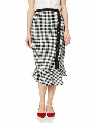 BCBGeneration Women's Gingham Pencil Skirt