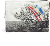 Mary Katrantzou Printed Leather Pouch in Caven