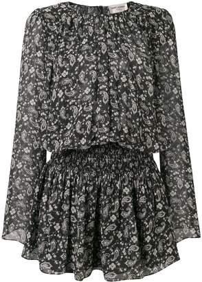 Saint Laurent paisley printed dress