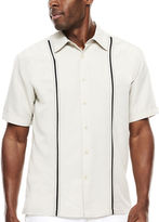 JCPenney The Havanera Co. Short-Sleeve Pickstitch Panel Shirt