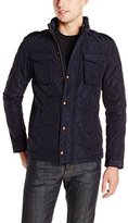Scotch & Soda Men's Light Padded and All-Over Quilted Jacket In Oxford Nylon