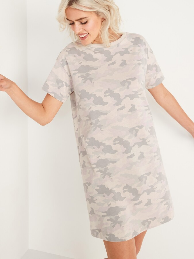 Thumbnail for your product : Old Navy Loose Vintage Camo T-Shirt Shift Dress for Women