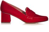 Tabitha Simmons Margot block-heel velvet loafers