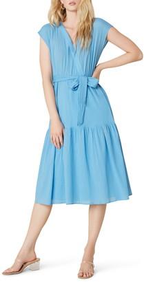 BB Dakota For a Good Gauze Mock Wrap Midi Dress