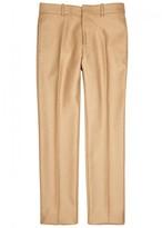 Alexander Mcqueen Sand Slim-leg Camel Trousers