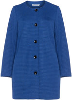 Studio Plus Size Textured jersey jacquard coat